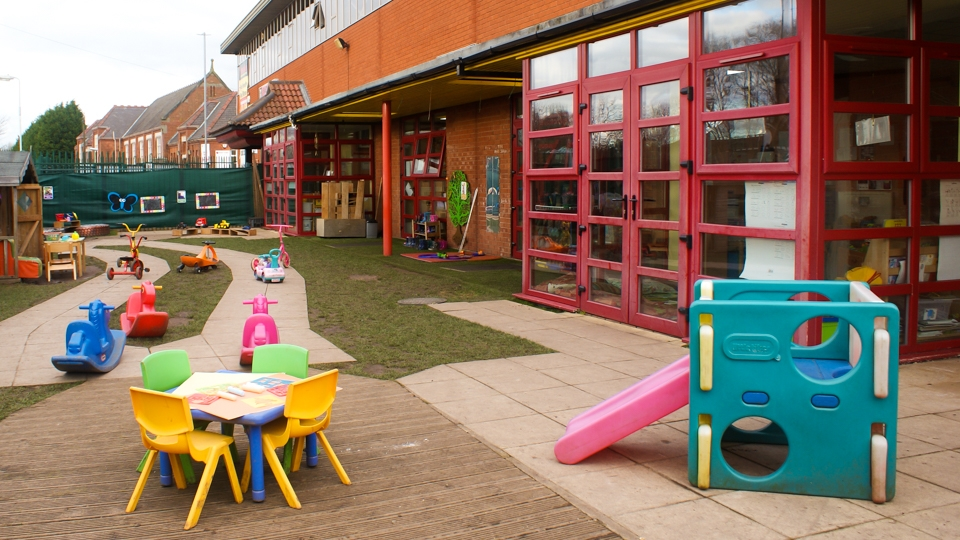 Outdoors art and play area