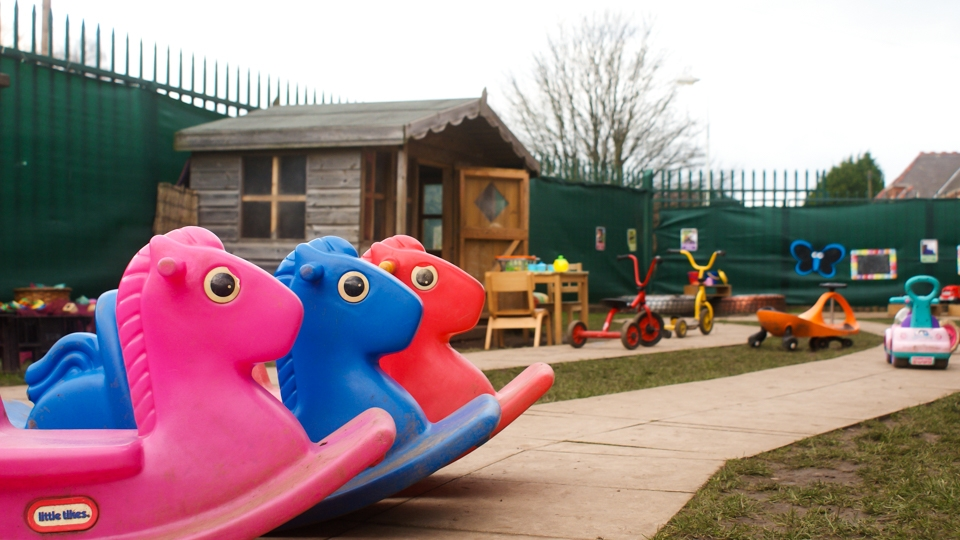 Outside play area toys