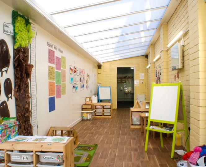 Little Walkers Nursery Creative Area